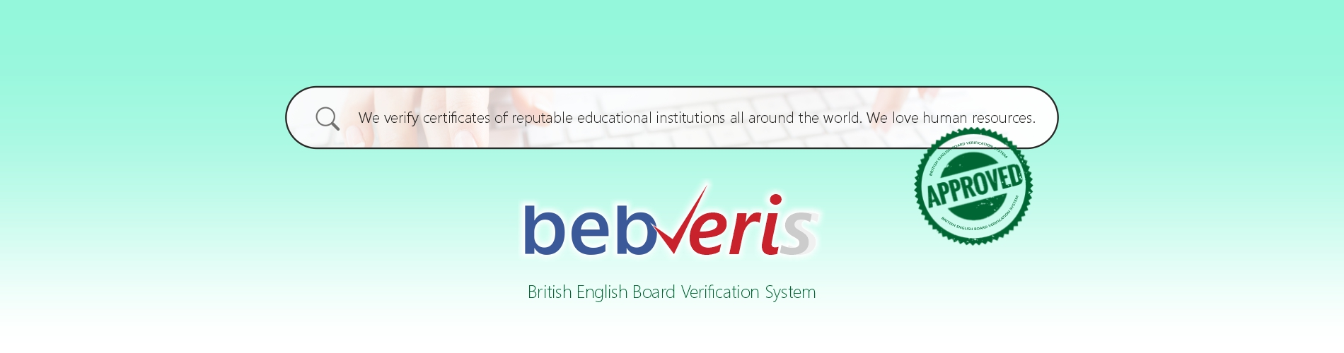 British English Board Verification System - BEBVERIS